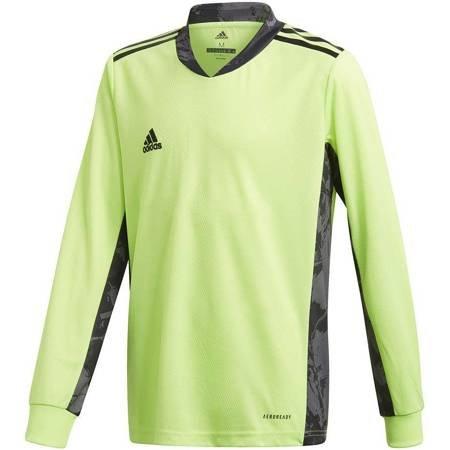 Bluza bramkarska dla dzieci adidas AdiPro 20 Goalkeeper Jersey Youth Longsleeve zielono-czarna FI4201