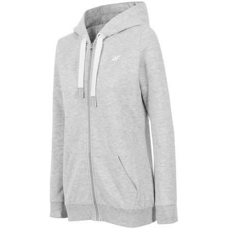 Bluza damska 4F H4Z18 BLD001 jasny szary melanż