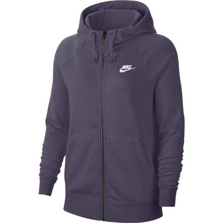 Bluza damska Nike Essential FLC FZ Hoodie fioletowa BV4122 574