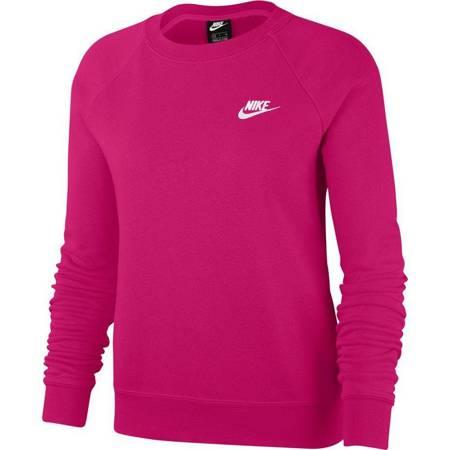 Bluza damska Nike Nsw Essntl Crew Flc ciemnoróżowa BV4110 616