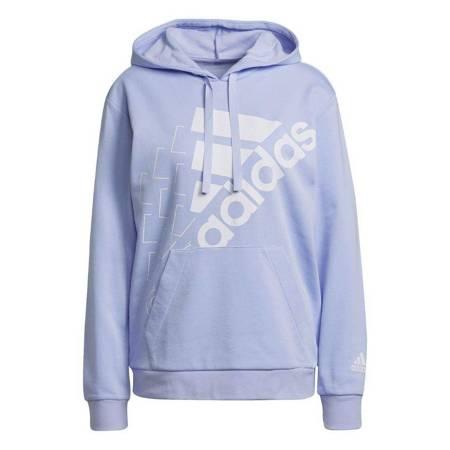 Bluza damska adidas Brand Love Slanted Logo Relaxed Hoodie jasnofioletowa H10250