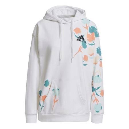 Bluza damska adidas Graphic Hoodie biała GT8818