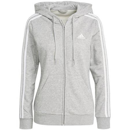 Bluza damska adidas W 3S Ft Fz Hd szara GL0802