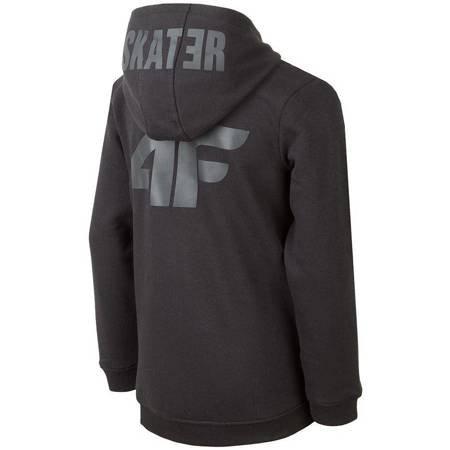 Bluza dla chłopca 4F głęboka czerń HJZ19 JBLM004 20S