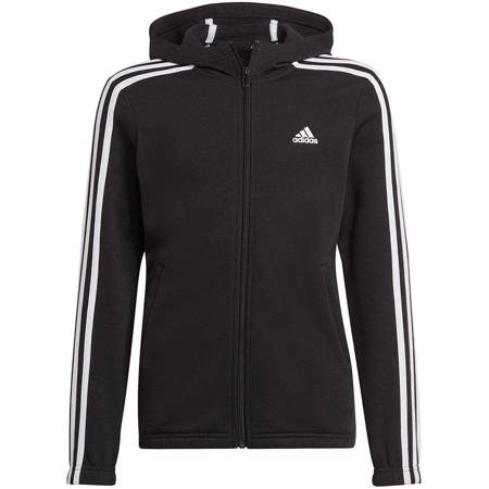 Bluza dla dzieci adidas Essentials 3S Flecee Full-Zip czarna GS2195