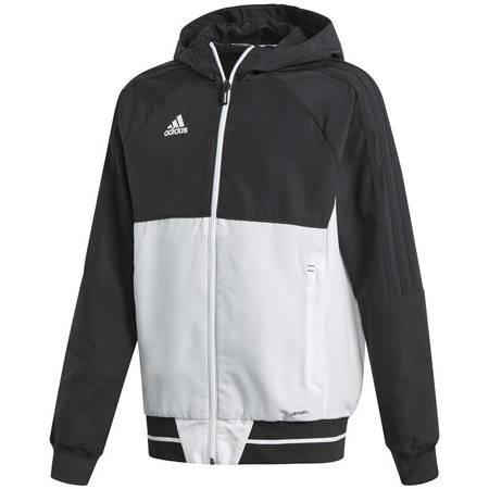 Bluza dla dzieci adidas Tiro 17 Presentation Jacket JUNIOR czarno-biała BQ2787