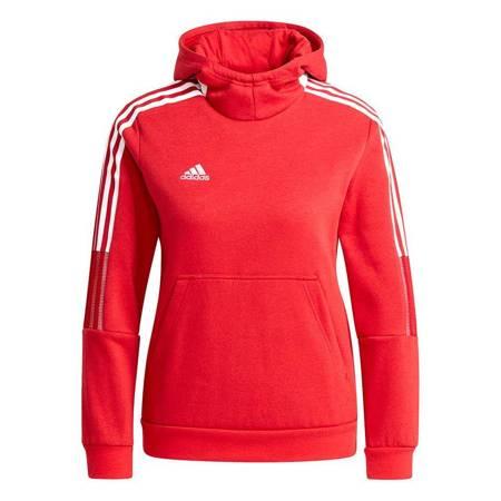 Bluza dla dzieci adidas Tiro 21 Sweat Hoody czerwona GM7338