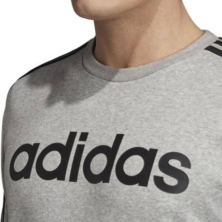Bluza męska adidas Essentials 3 Stripes Crewneck Fleece szara EI4902