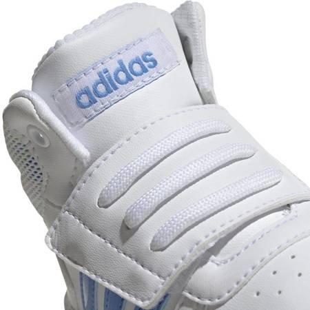 Buty dla dzieci adidas Hoops Mid 2.0 I biało niebieskie EE8550