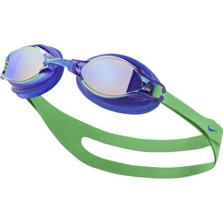 Okulary pływackie Nike Os Chrome niebiesko zielone NESS7152-381