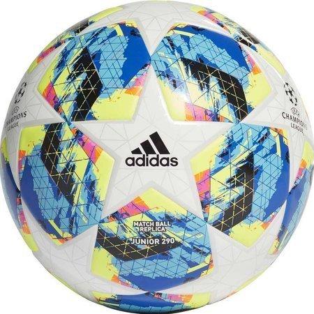 Piłka nożna adidas Finale TT J290 biało niebiesko żółta DY2549