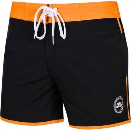 Spodenki kąpielowe męskie Aqua-Speed Axel czarno-pomarańczowe kol.01